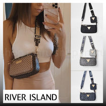 River Island Monogram Casual Style Faux Fur Street Style 2WAY Party Style