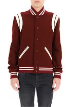 Saint Laurent Wool Street Style Plain MA-1 Varsity Jackets