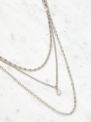Unisex Leather Silver Logo Necklaces & Chokers