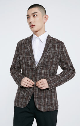 Short Other Plaid Patterns Wool Bridal Blazers Jackets
