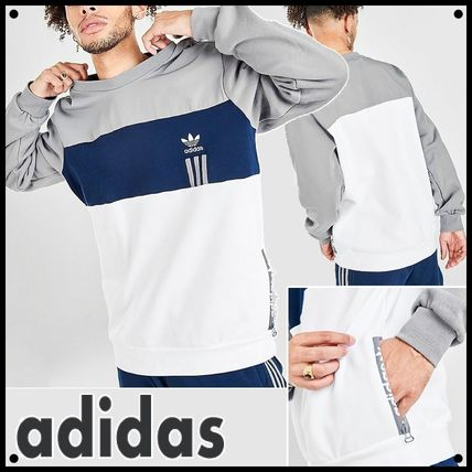 adidas Sweatshirts Crew Neck Pullovers Unisex Sweat Street Style Long Sleeves