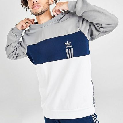 adidas Sweatshirts Crew Neck Pullovers Unisex Sweat Street Style Long Sleeves 2