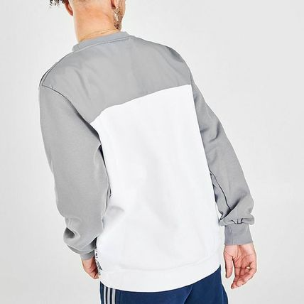 adidas Sweatshirts Crew Neck Pullovers Unisex Sweat Street Style Long Sleeves 3