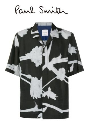 Paul Smith Shirts Flower Patterns Short Sleeves Front Button Shirts