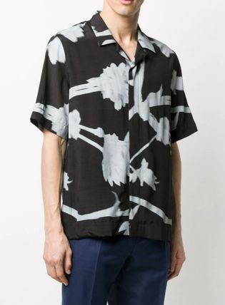 Paul Smith Shirts Flower Patterns Short Sleeves Front Button Shirts 3