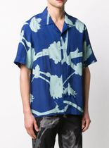 Paul Smith Shirts Flower Patterns Short Sleeves Front Button Shirts 8