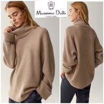 Massimo Dutti Casual Style Wool Cashmere Nylon Long Sleeves Plain Medium