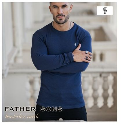 Father & Sons Long Sleeve Crew Neck Street Style Long Sleeves Cotton