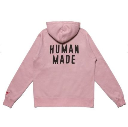 Street Style Long Sleeves Cotton Logo Hoodies