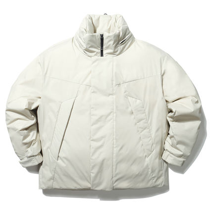 Short Unisex Street Style Collaboration Plain Down Jackets