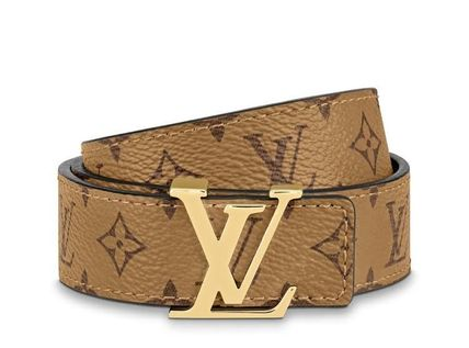 Louis Vuitton Casual Style Monogram Leather Belts