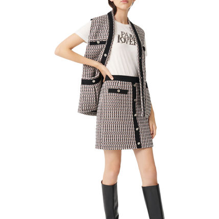 Pencil Skirts Short Other Plaid Patterns Casual Style