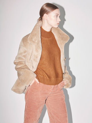 Casual Style Faux Fur Medium Party Style Office Style