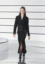 CHANEL ICON Casual Style Wool Street Style Plain Long Party Style
