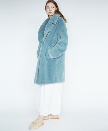 Casual Style Faux Fur Medium Long Party Style Office Style