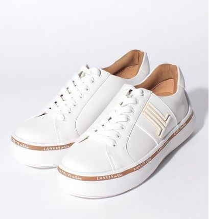 Lace-up Casual Style Suede Plain Logo Low-Top Sneakers