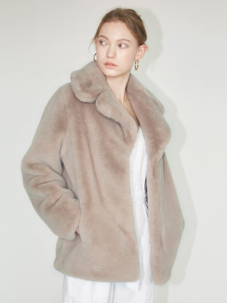 Short Casual Style Faux Fur Medium Party Style Office Style