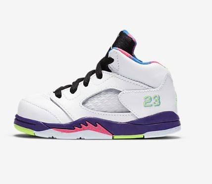 Nike AIR JORDAN Unisex Street Style Icy Color Baby Girl Shoes