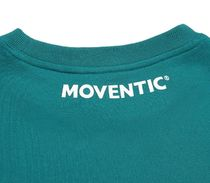 MOVENTIC Sweaters Unisex Studded Street Style U-Neck Long Sleeves Plain Cotton 13