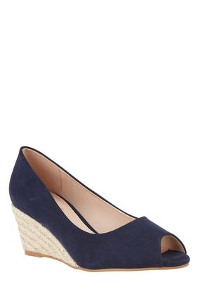 Lipsy Open Toe Casual Style Plain Leather Peep Toe Pumps & Mules