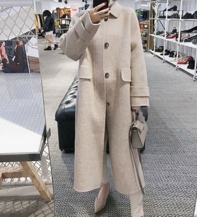 Formal Style  Casual Style Plain Long Street Style