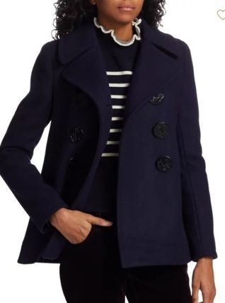 MARC JACOBS Casual Style Wool Plain Medium Peacoats
