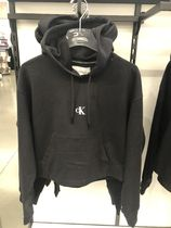 Calvin Klein Long Sleeves Plain Cotton Logo Hoodies & Sweatshirts