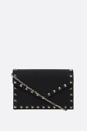 VALENTINO Studded Street Style Chain Plain Party Style Elegant Style