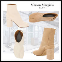 Maison Margiela Tabi Casual Style Plain Leather Party Style High Heel Boots