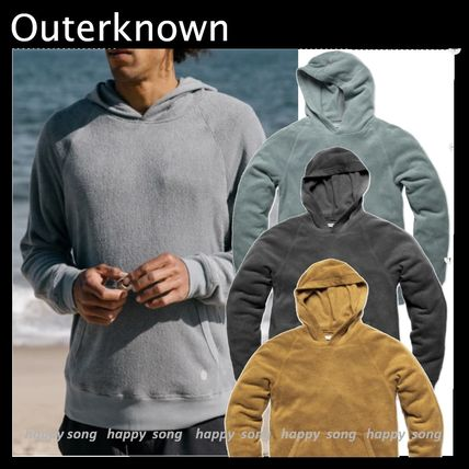 Outer known Hoodies Pullovers Sweat Street Style Long Sleeves Cotton Logo