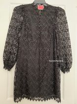 kate spade new york Short Tight Long Sleeves Plain Lace Puff Sleeves Dresses