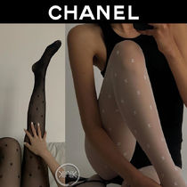 CHANEL Plain Logo Socks & Tights