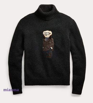 Crew Neck Cashmere Long Sleeves Other Animal Patterns