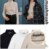 muahmuah Street Style Long Sleeves Long Sleeve T-shirt Logo