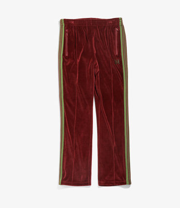 Velvet Plain Logo Pants