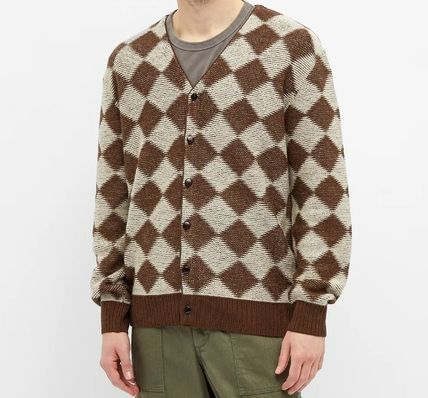 Needles Button-down Other Plaid Patterns Wool Logo Cardigans