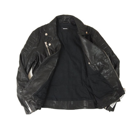 DIESEL Street Style Leather Biker Jackets