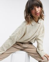 ASOS Cable Knit Long Sleeves Plain Sweaters
