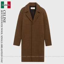 CELINE Classic Mac Coat With 3 Buttons In Houndstooth Wool