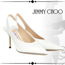 Jimmy Choo Wedge Plain Leather Party Style Office Style Elegant Style