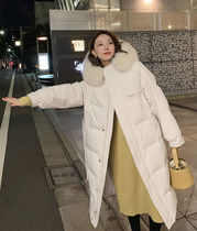 Casual Style Plain Long Outerwear