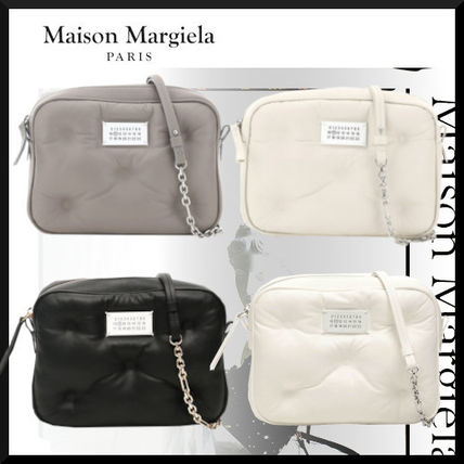 Maison Margiela Casual Style Lambskin Chain Plain Leather Party Style
