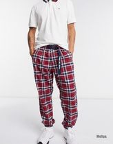 Tommy Hilfiger Tartan Other Plaid Patterns Unisex Logo Cropped Pants