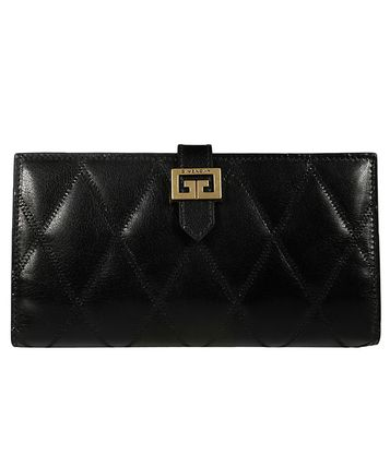 GIVENCHY Plain Leather Logo Long Wallets