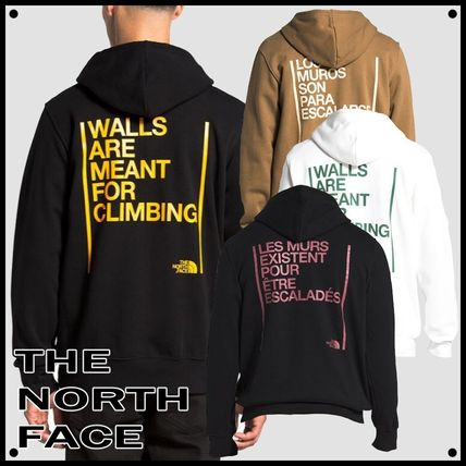 THE NORTH FACE Hoodies Pullovers Unisex Long Sleeves Plain Logo Outdoor Hoodies