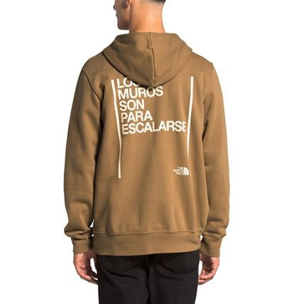 THE NORTH FACE Hoodies Pullovers Unisex Long Sleeves Plain Logo Outdoor Hoodies 6