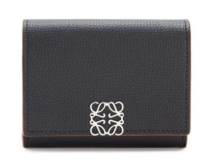 LOEWE Calfskin Folding Wallet Logo Folding Wallets