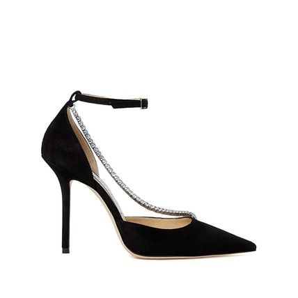 Jimmy Choo Casual Style Leather Pin Heels Party Style Office Style