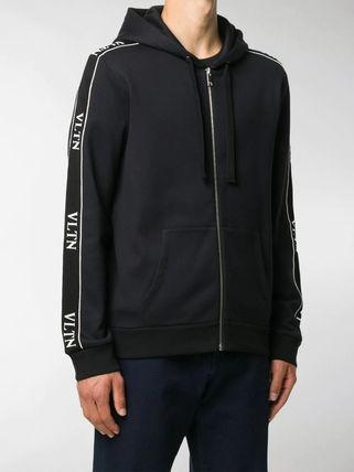 VALENTINO Hoodies Nylon Street Style Long Sleeves Plain Cotton 2