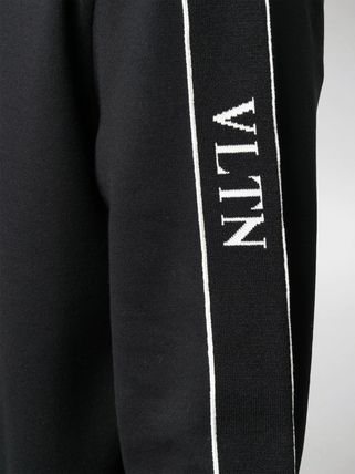 VALENTINO Hoodies Nylon Street Style Long Sleeves Plain Cotton 3